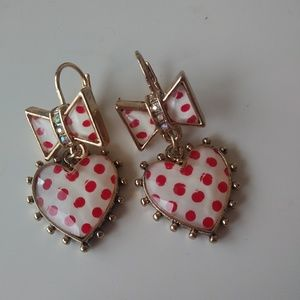 Betsey Johnson (never worn) earrings